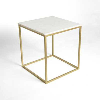 Best Home Fashion Marble White Square Accent Table - Home Depot