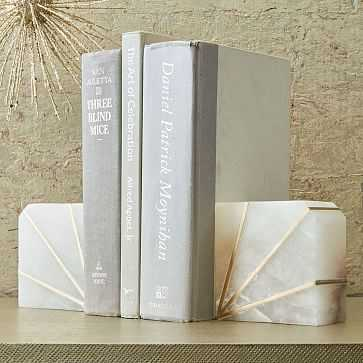 Stone Bookend, Alabaster, Set of 2 - West Elm