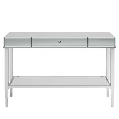 Hutton Glam Mirrored TV Stand Entry Console - Chrome (Grey) - Inspire Q - Target