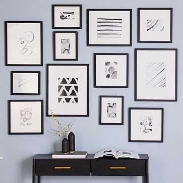Gallery Frames, Black, Set of 12 - West Elm