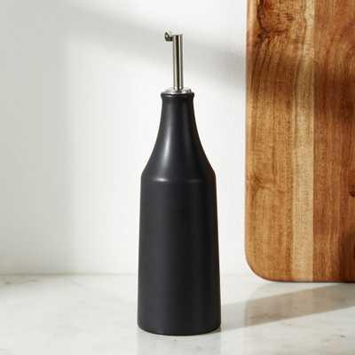 Matte Black Oil/Vinegar Bottle - Crate and Barrel