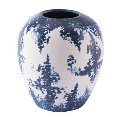 ZUO Blue and White Nube Small Decorative Vase, Blue & White - Home Depot