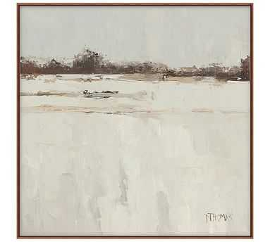 Snowfallen Landscape Canvas, 28x28 - Pottery Barn