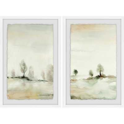'Solstice II' 2 Piece Framed Watercolor Painting Print Set - Wayfair