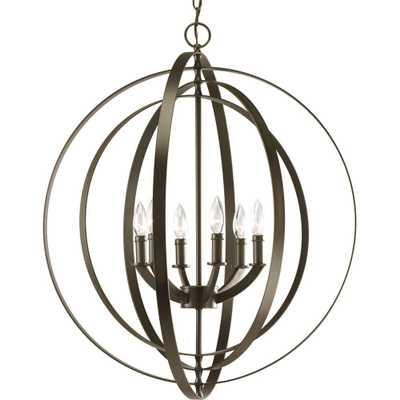 Progress Lighting Equinox 6-Light Antique Bronze Orb Pendant - Home Depot