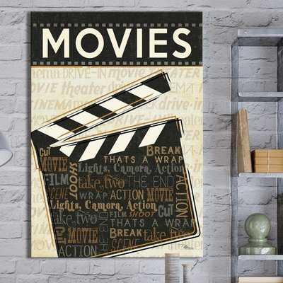 'Movies' Graphic Art Print on Wrapped Canvas - Wayfair