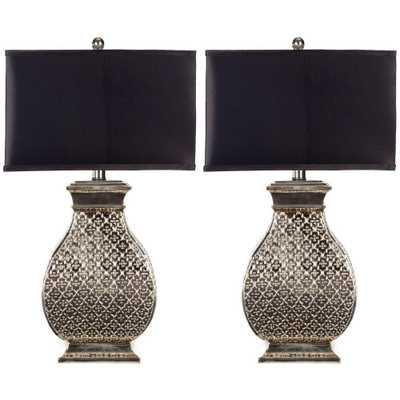 Safavieh Malaga 30 in. Silver Table Lamp (Set of 2) - Home Depot