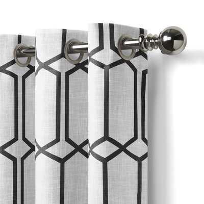 Atwell Geometric Room Darkening Thermal Grommet Single Curtain Panel - AllModern