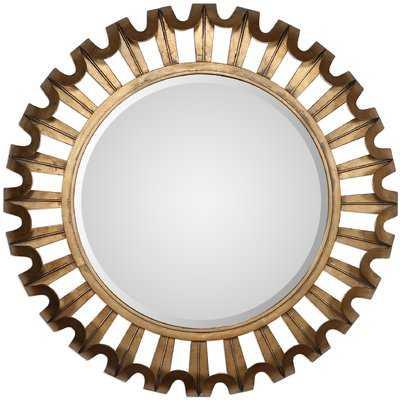 Round Textured Wall Mirror - Wayfair