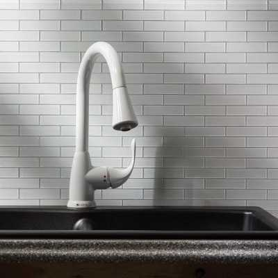 Subway Matted 12 in. x 4 in. Frost Glass Decorative Tile Backsplash (3-Pack) - Home Depot