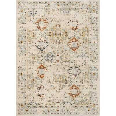Omaha Kian Vintage Global Oriental Cream Area Rug - Wayfair