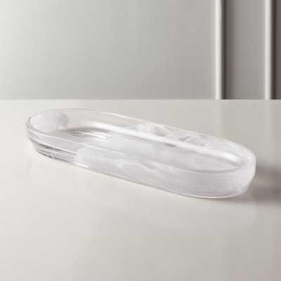Aura Swirl Glass Tank Tray - CB2