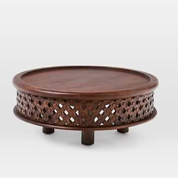 Carved Wood Coffee Table, Cafe - West Elm