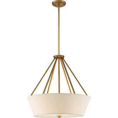 "Nuvo Lighting 60/5841 Natural Brass 4-Light 22"" Wide Chandelier - eBay"