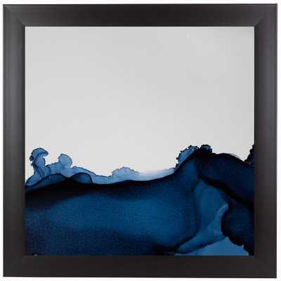"""'Nothing But Navy' by Emma Thomas - Painting Print - 15""""x15"""" with Black Frame - Wayfair"""