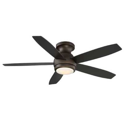 GE Treviso 52 in. Oil Rubbed Bronze Indoor LED Ceiling Fan with Remote Control - Home Depot