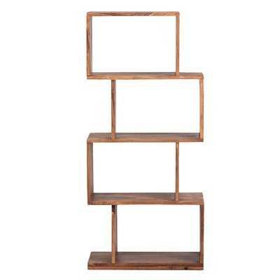 Amerson Mid-Century Modern Sheesham Wood Standard Bookcase - Wayfair