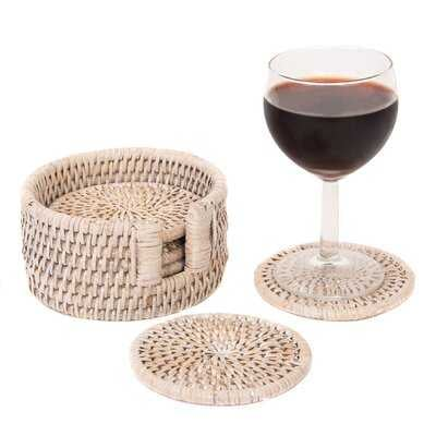 Pelegrina 7 Piece Coaster Set with Holder - Birch Lane