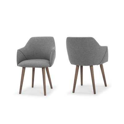 Gerald Upholstered Dining Chair - Set of 2- Sunday Dark Gray - AllModern
