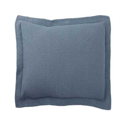Hillcrest Matelasse China Blue Cotton Euro Sham - Home Depot