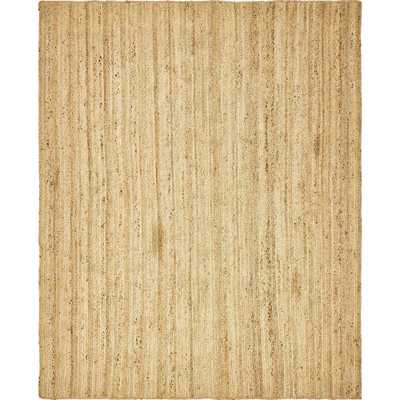 Braided Jute Natural 8 ft. x 10 ft. Area Rug - Home Depot