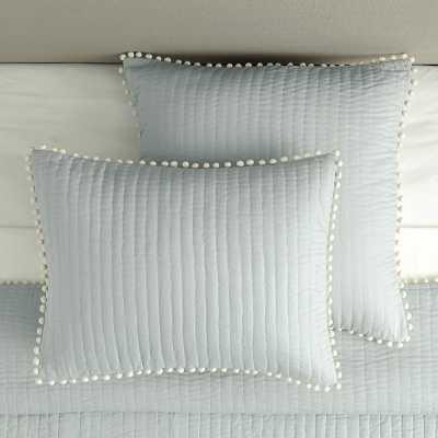 Ballard Designs Audree Pom Pom Sham Gray - Ballard Designs