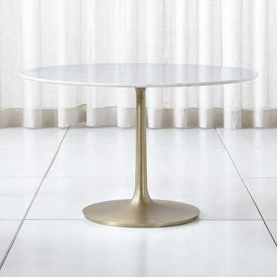 "Nero 48"" White Marble Dining Table - Crate and Barrel"
