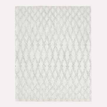 Hazy Lattice Rug, Ivory, 9'x12' - West Elm