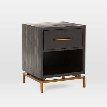 Alexa Nightstand, Black-individual - West Elm