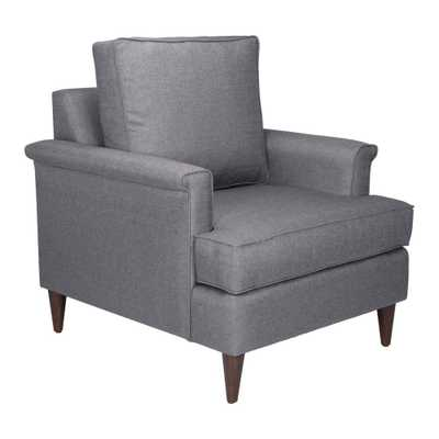 Campbell Dark Gray Arm Chair - Home Depot