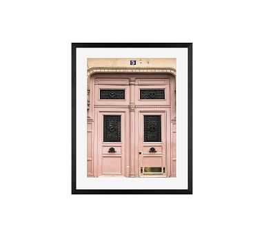 """Paris Pretty in Pink by Rebecca Plotnick, 16 x 20"""", Wood Gallery, Black, Mat - Pottery Barn"""