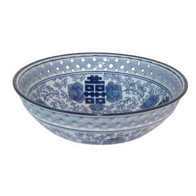 Blue and White Ceramic Bowl - Home Depot