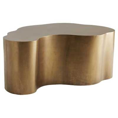 Arteriors Meadow Modern Classic Gold Antique Brass Iron Abstract Coffee Table - Kathy Kuo Home