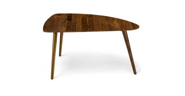 "Amoeba Wild Walnut 35"" Wide Coffee Table - Article"