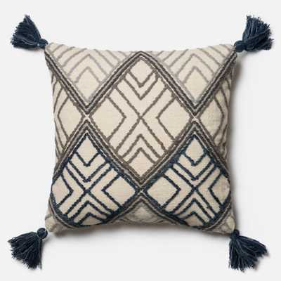 PILLOWS - BLUE / IVORY - Magnolia Home by Joana Gaines Crafted by Loloi Rugs