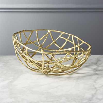 Nest Matte Gold Serving Bowl - CB2