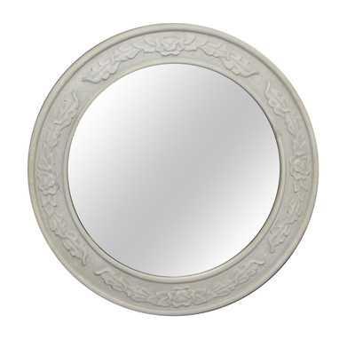 Antique Round Wall Mirror - Wayfair