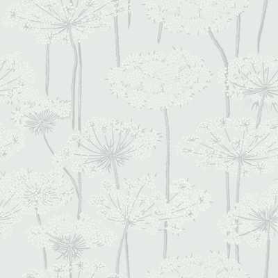 Grey Dandelion Meadow Wallpaper, Dove - Home Depot