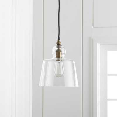 Lander Brass Pendant Light - Crate and Barrel