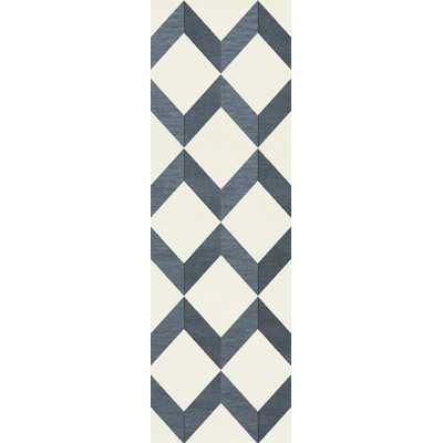 Bella Blue/White Area Rug - Wayfair