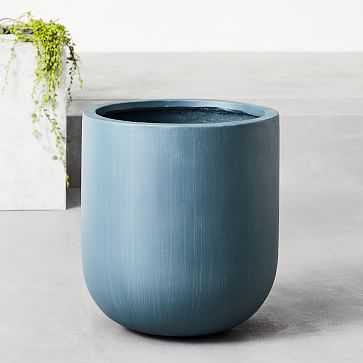 Radius Planters, Petrol Blue, Medium - West Elm