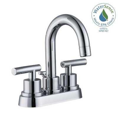 Glacier Bay Dorset 4 in. Centerset 2-Handle Bathroom Faucet in Chrome (Grey) - Home Depot