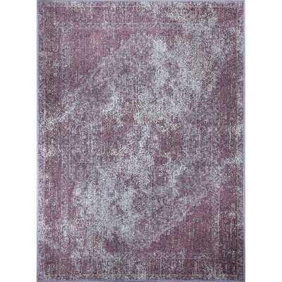 Romulus Wool/Cotton Aubergine Area Rug - Wayfair