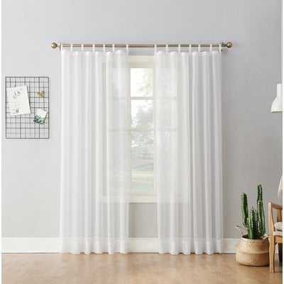 Wayfair Basics Solid Sheer Tab Top Single Curtain Panel - AllModern