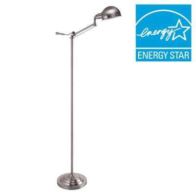 ORE International 64 in. H Modern Silver Task Floor Lamp - Home Depot