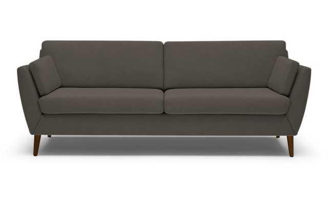 Brown Monroe Mid Century Modern Sofa - Unforgettable Charcoal - Brown Mahogany - Joybird