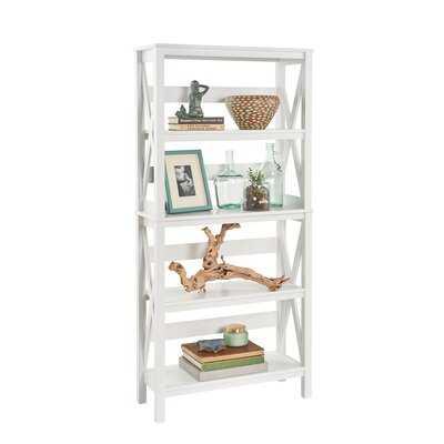 X-Frame Etagere Bookcase (white) - Wayfair
