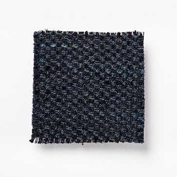 Fabric By The Yard, Performance Basket Slub, Midnight - West Elm