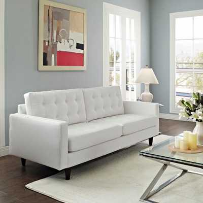 Empress White Bonded Leather Sofa - Home Depot