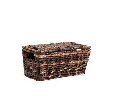 Havana Lidded Basket, Small - Pottery Barn